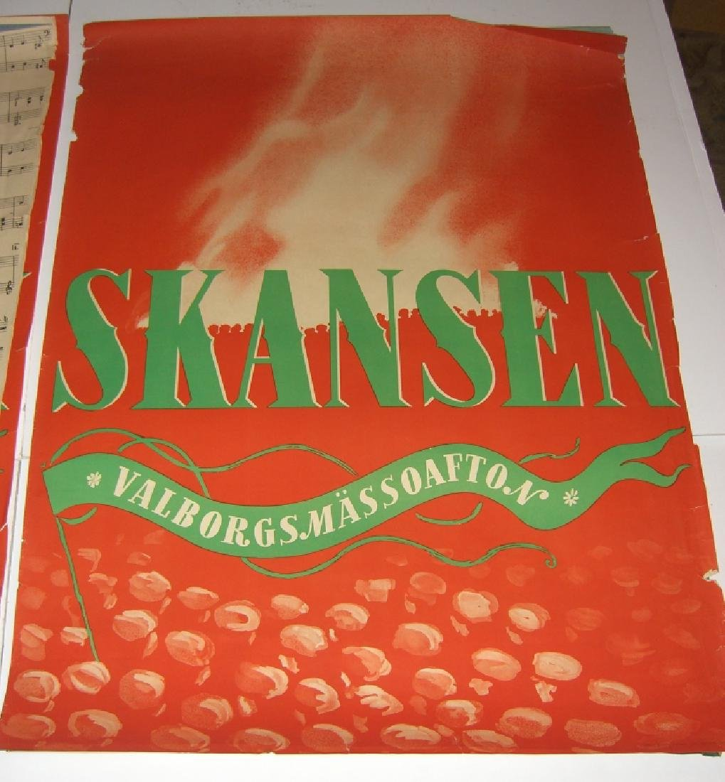 4 Skansen travel advertising posters - 3
