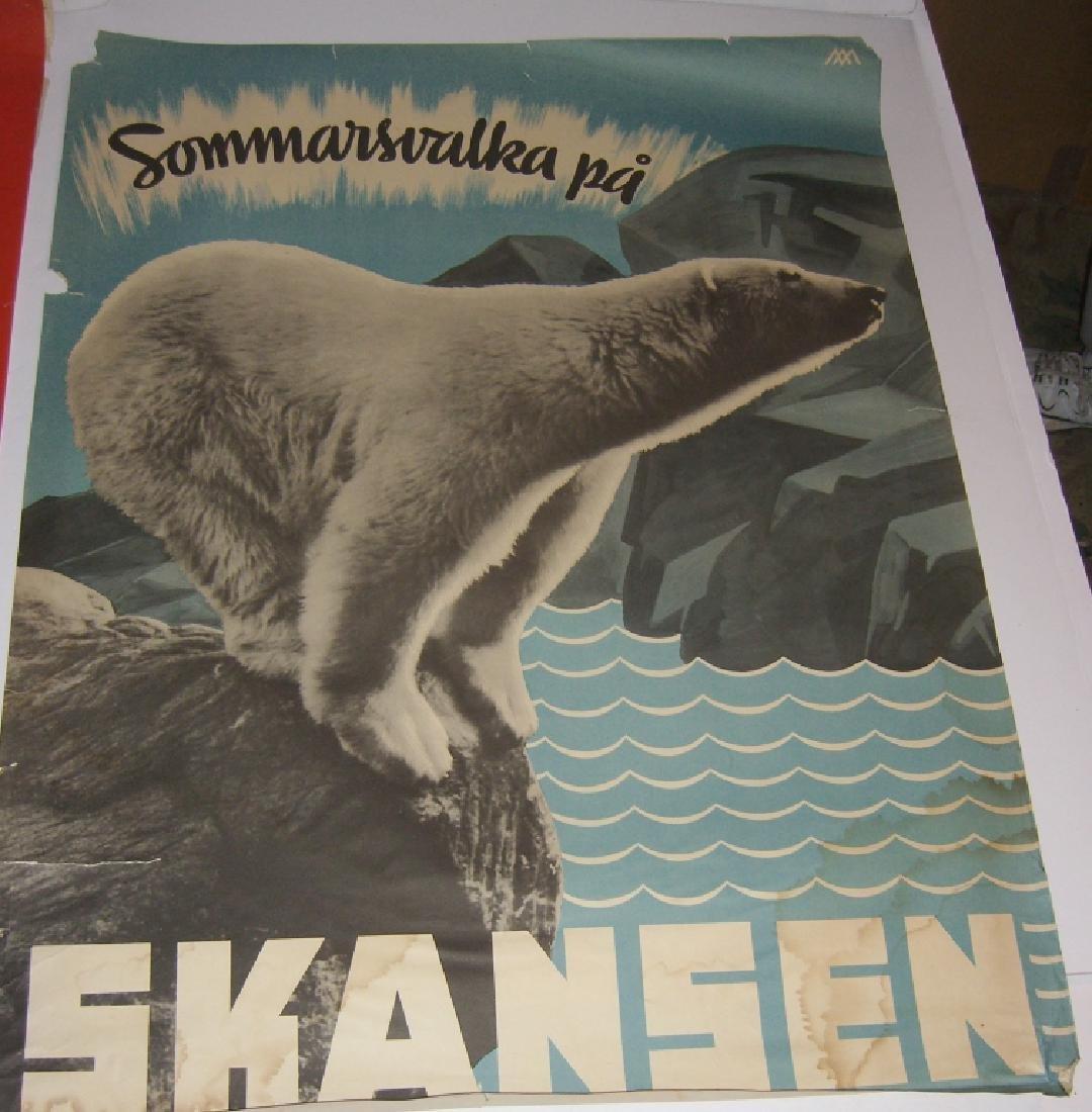 4 Skansen travel advertising posters - 7