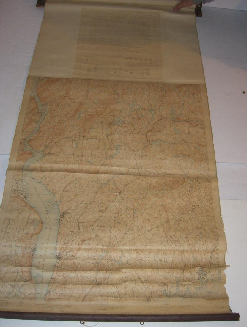 Hudson Valley New York pull down scroll map - 2