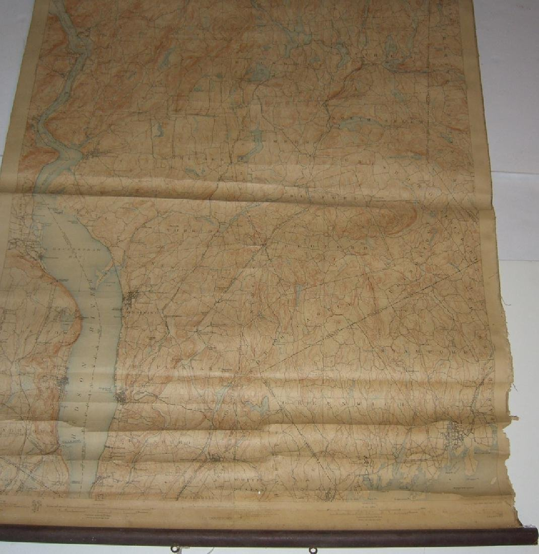 Hudson Valley New York pull down scroll map - 3