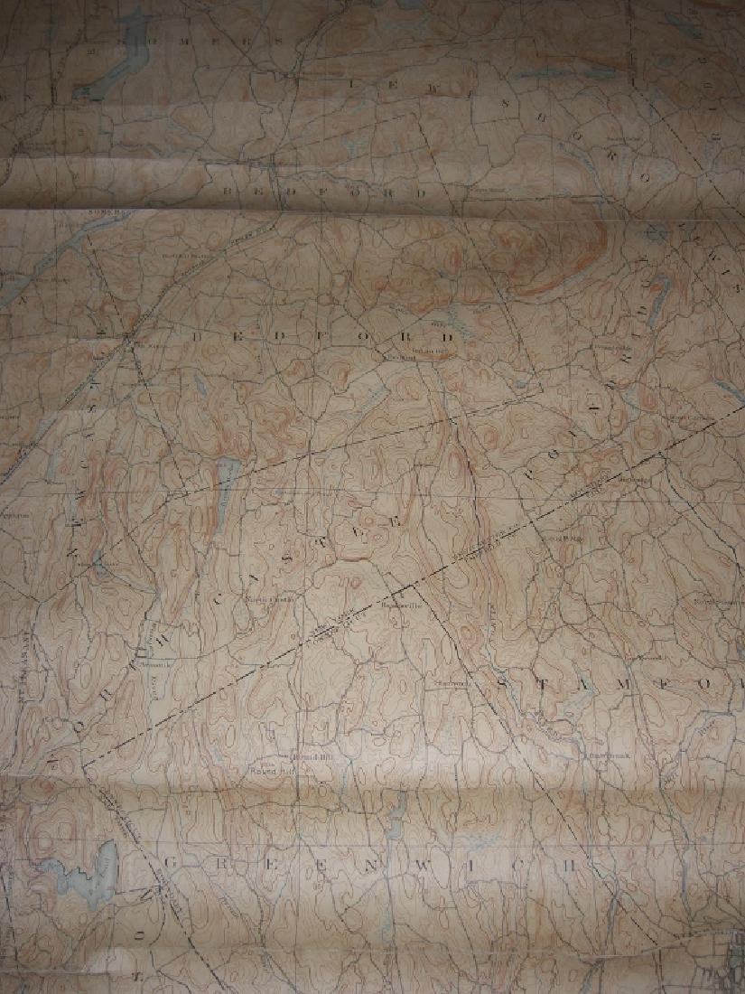 Hudson Valley New York pull down scroll map - 4