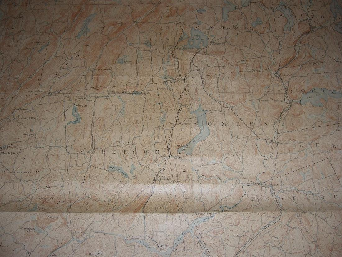 Hudson Valley New York pull down scroll map - 5