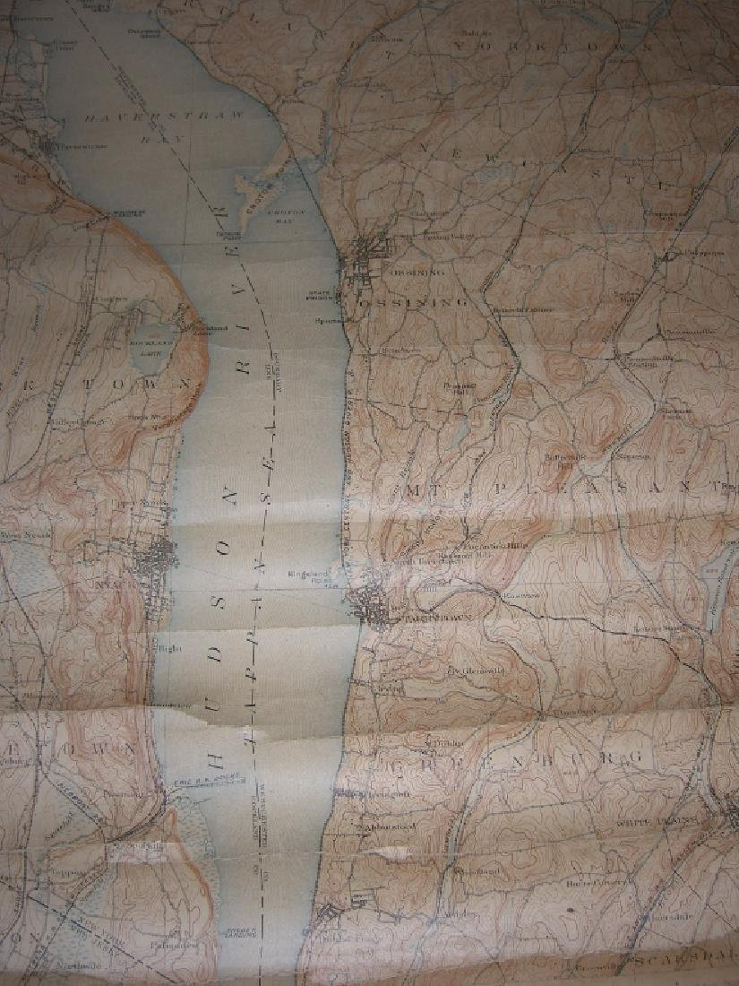 Hudson Valley New York pull down scroll map - 8