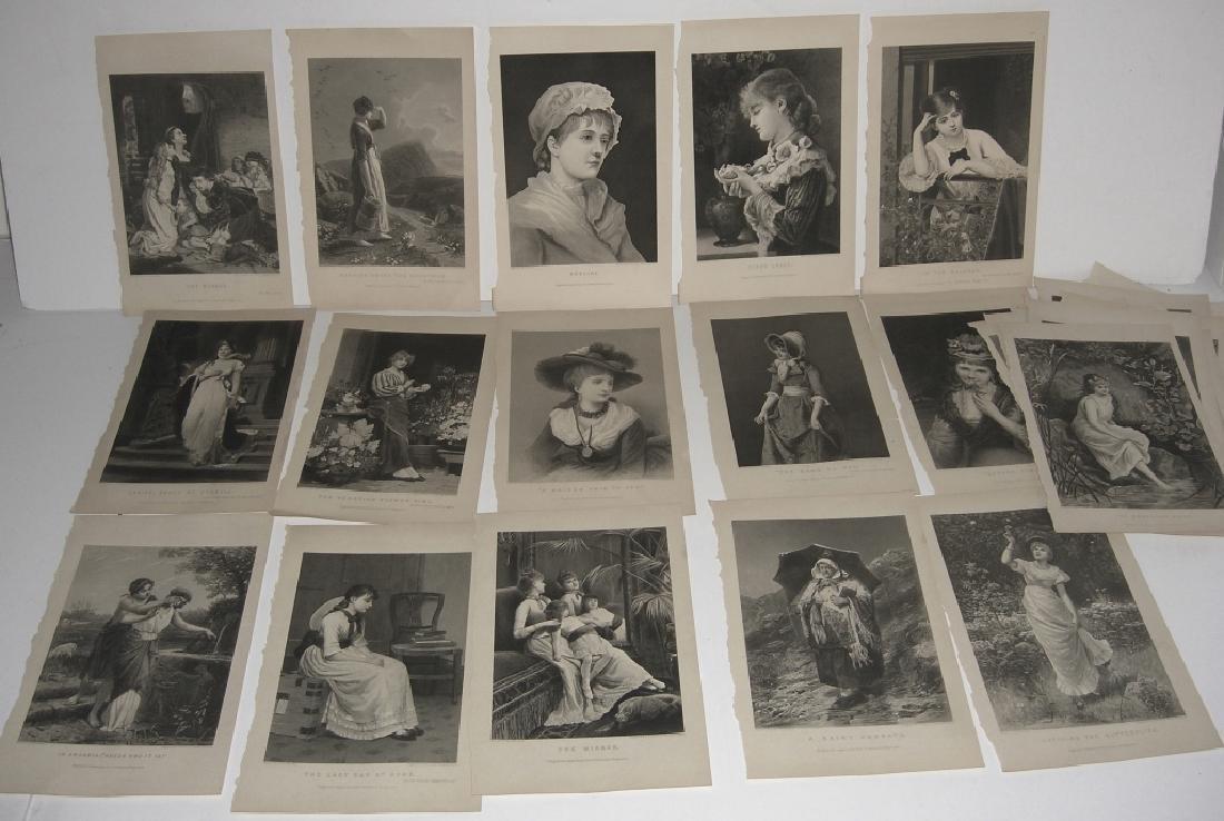 25 antique engravings/etchings