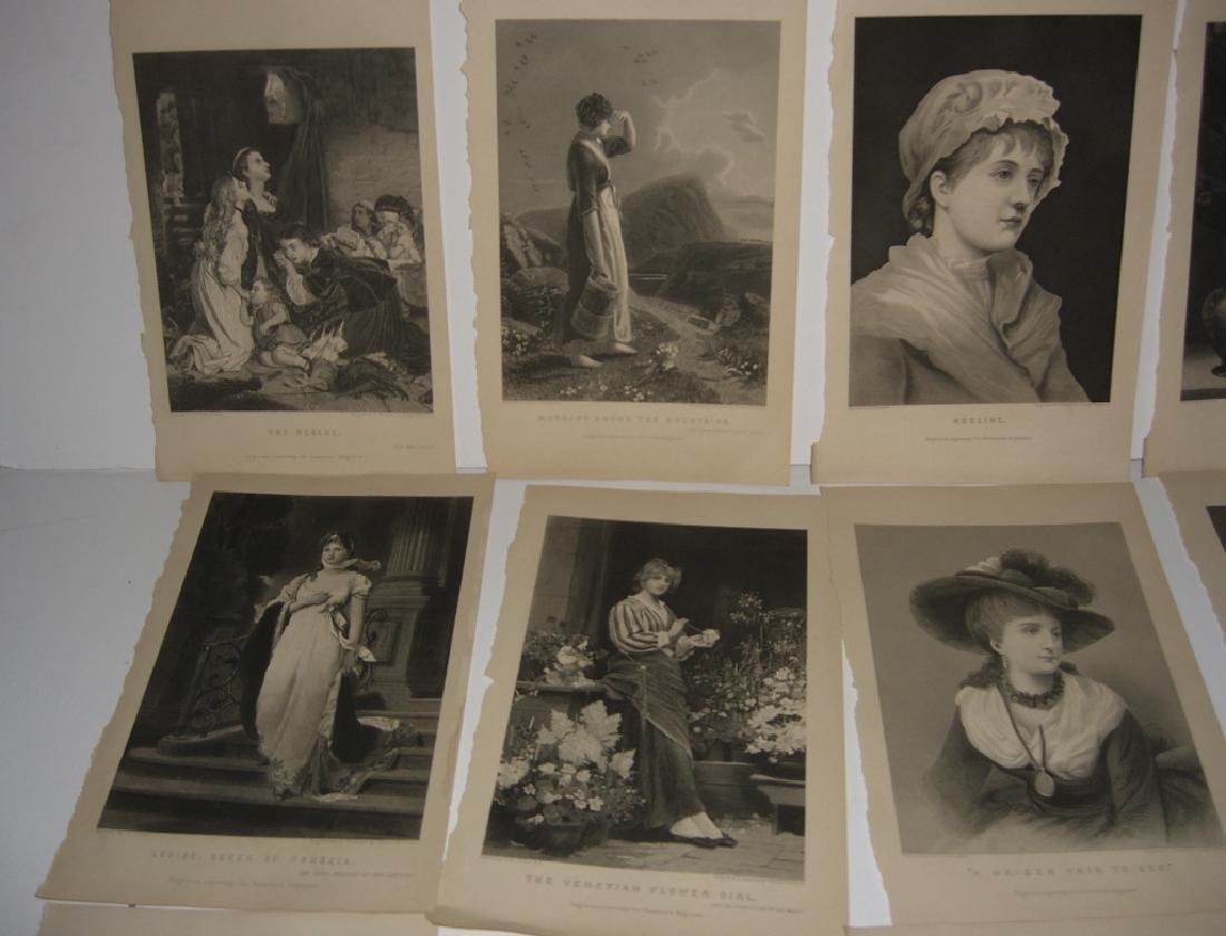 25 antique engravings/etchings - 6