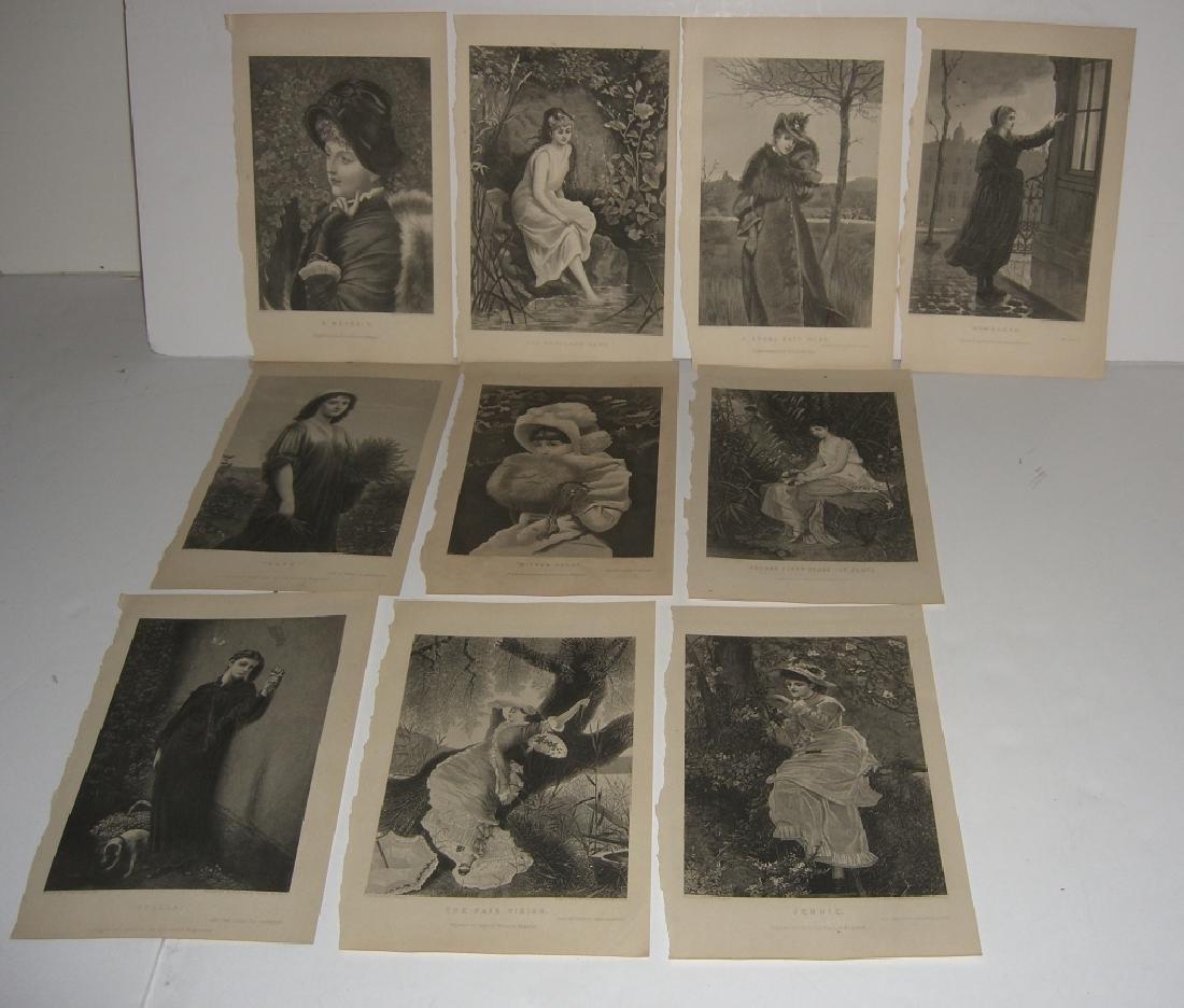 25 antique engravings/etchings - 9