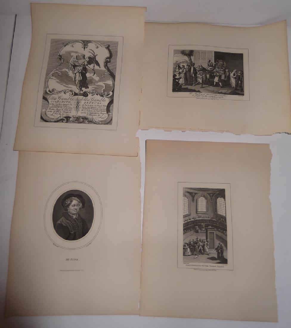 25 antique engravings/etchings - 14