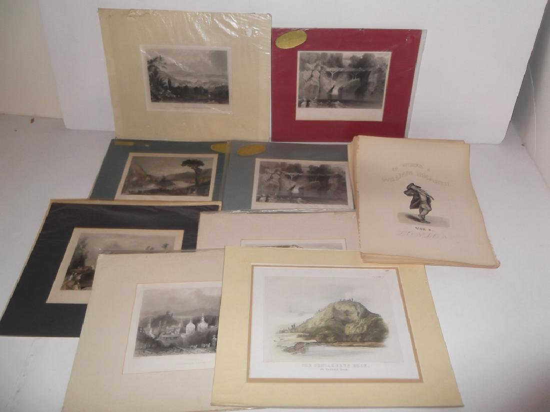 25 antique engravings/etchings