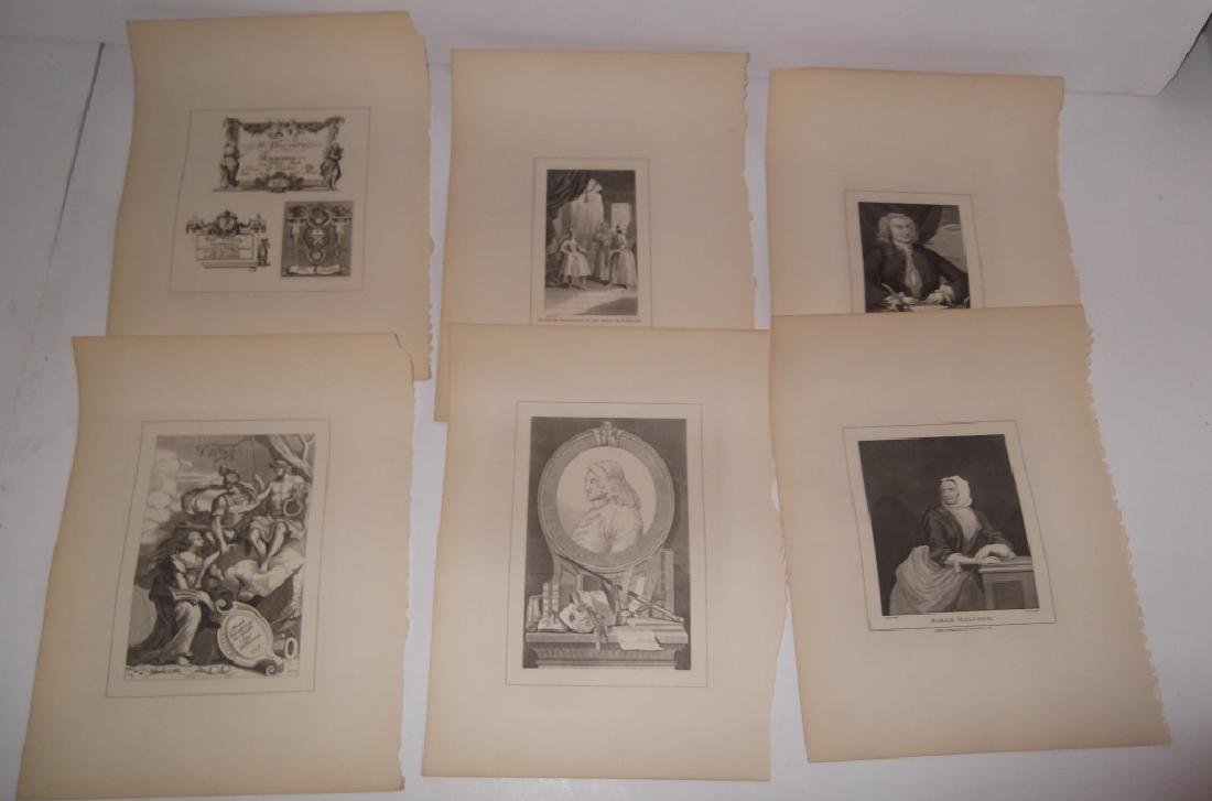 25 antique engravings/etchings - 2