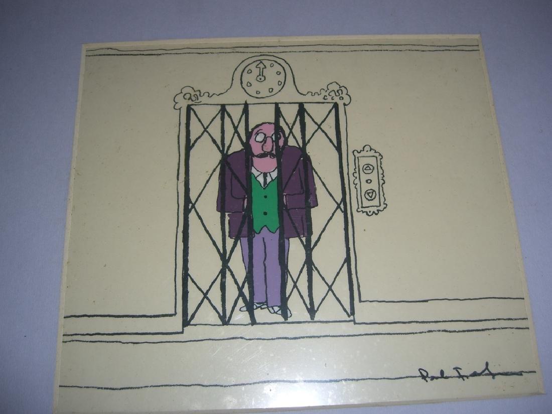 9 cartoon animation cells by Paul Fierlinger - 7