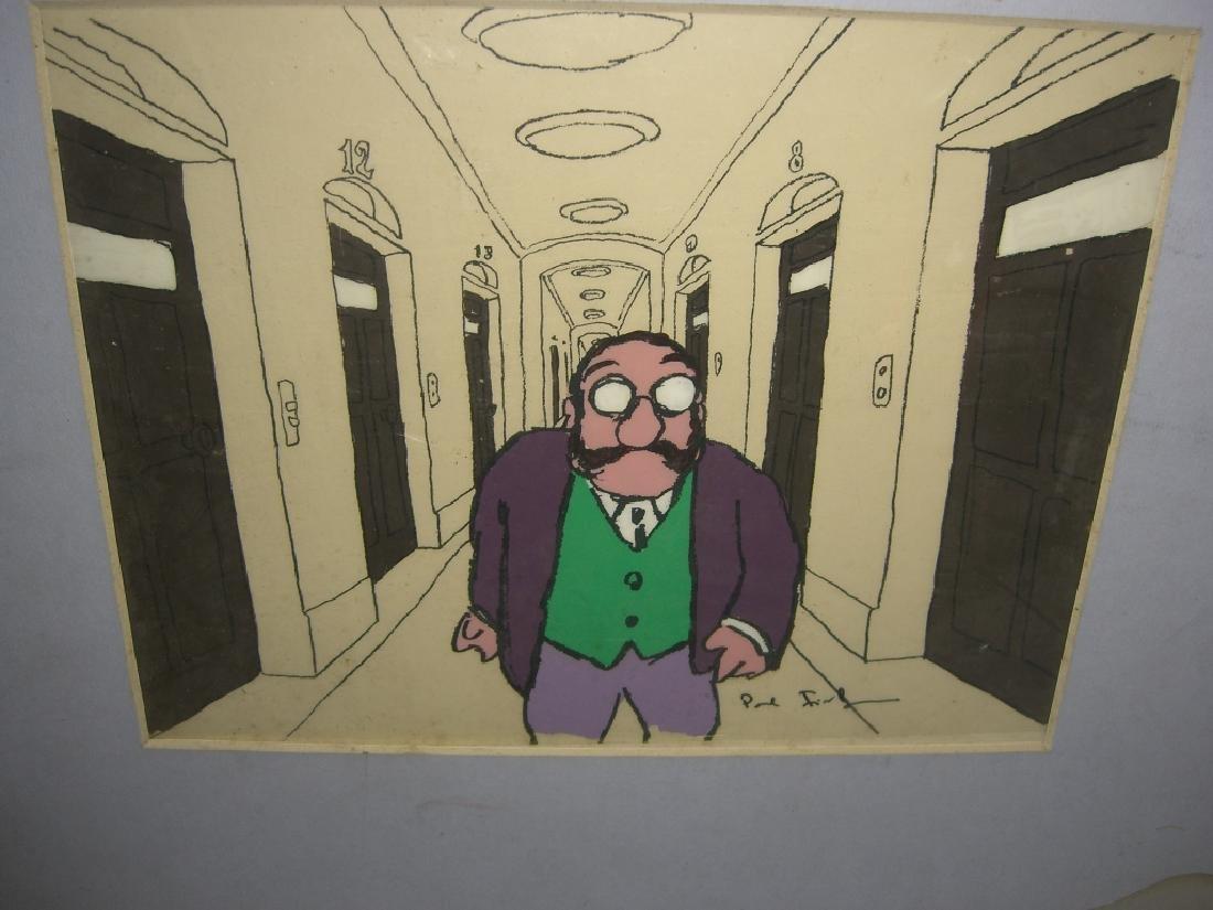 9 cartoon animation cells by Paul Fierlinger - 9