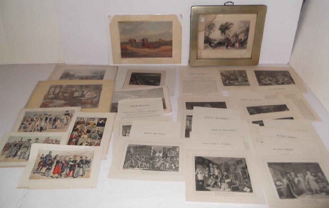 14 20th c. etchings/engravings & prints