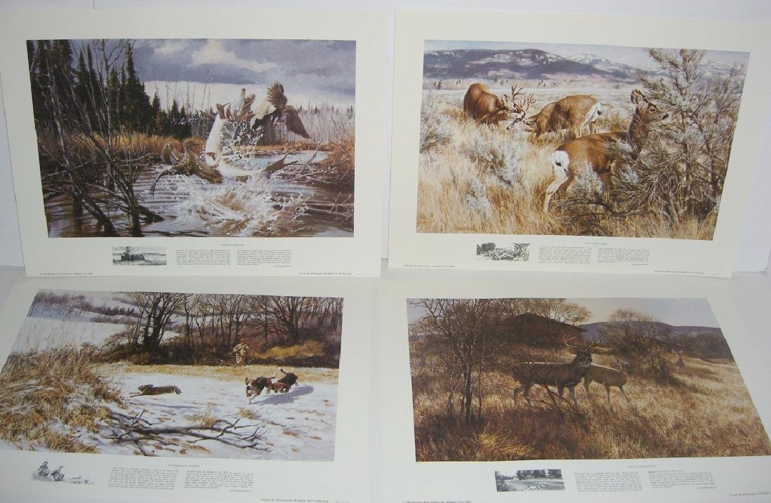 23 Remington Wildlife lithograph prints - 8