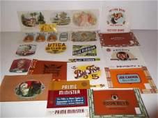 19 vintage cigar box labels