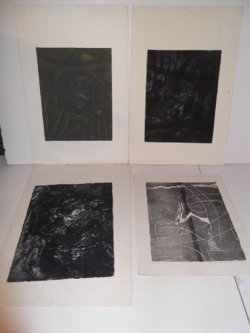 4 20th century abstract lithographs