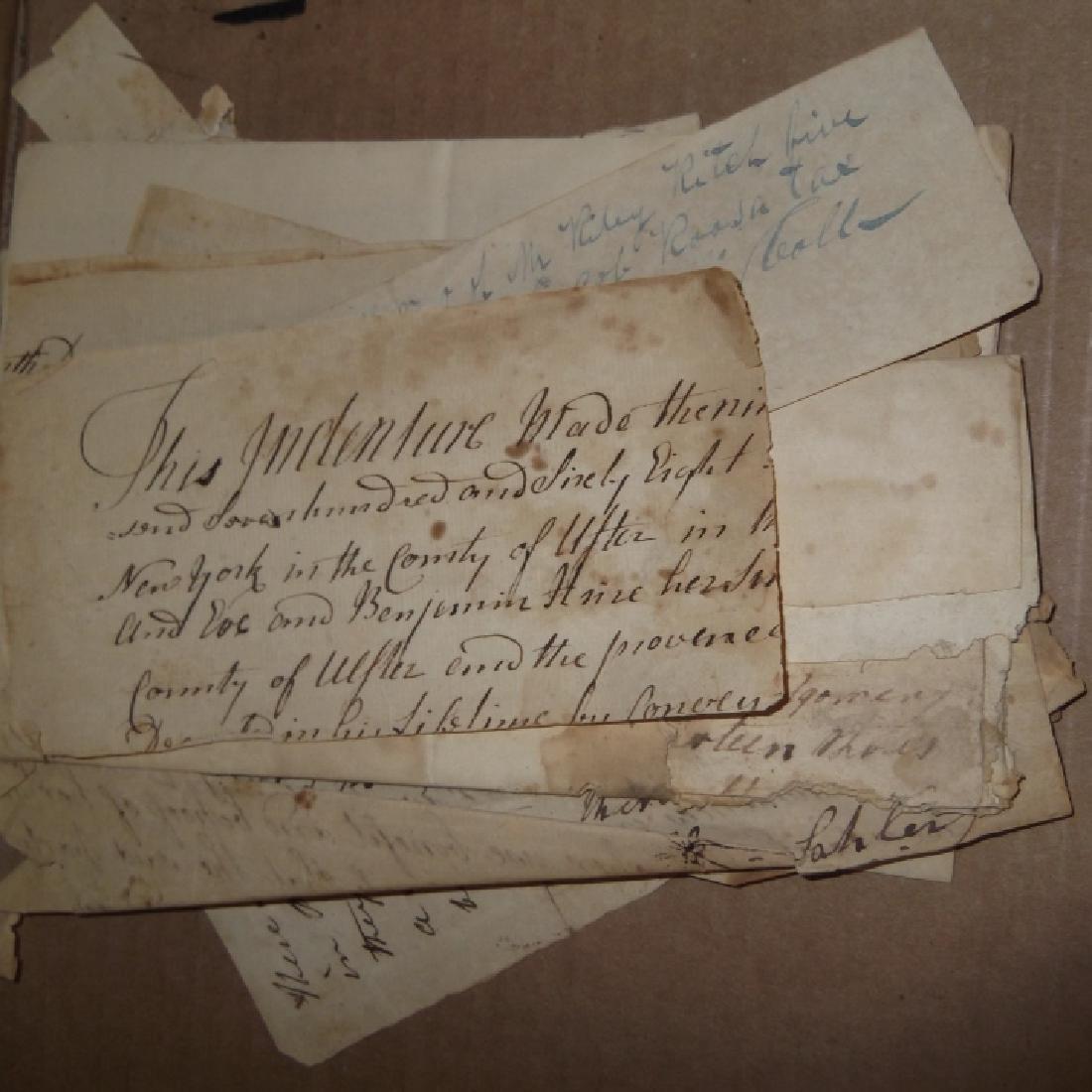 50 18th/19th century  Indentures, receipts - 3