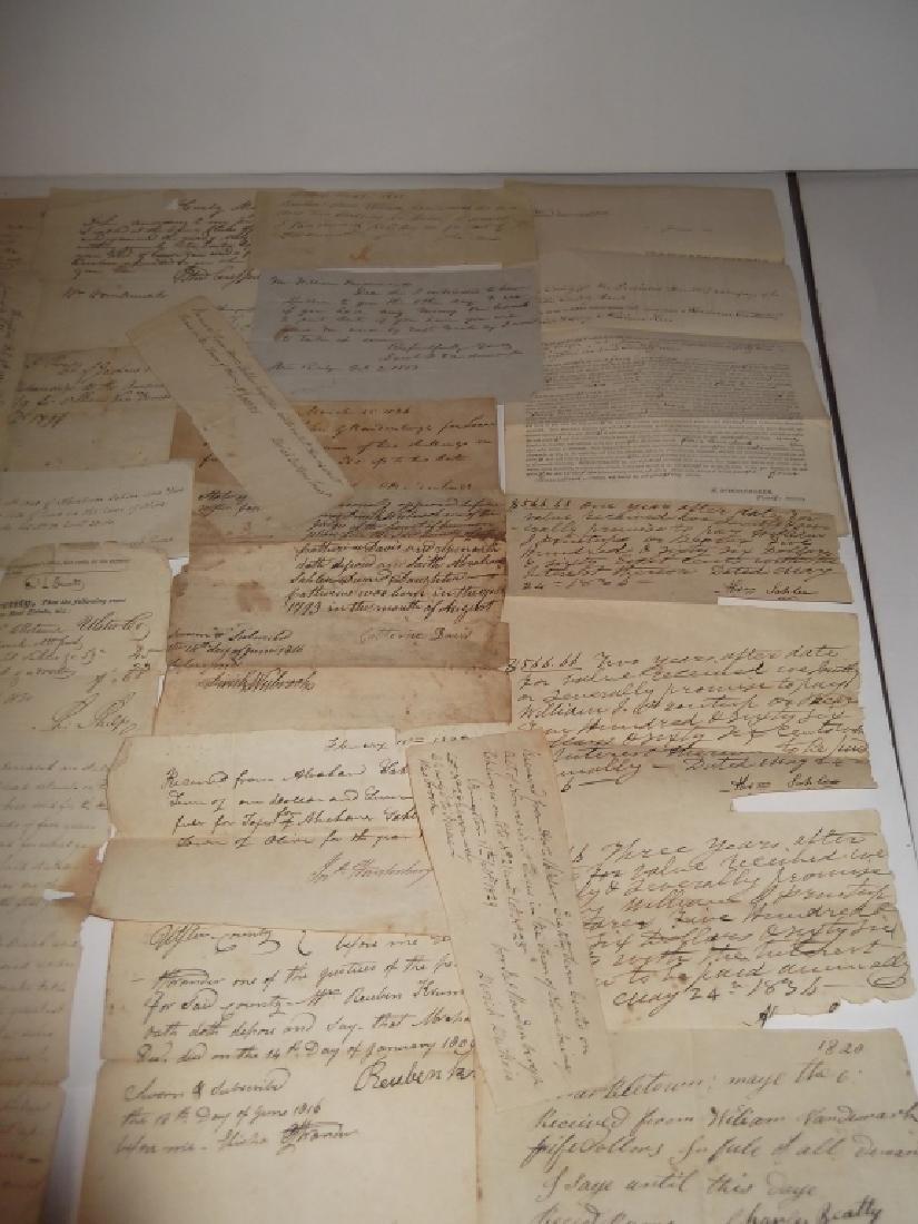 50 18th/19th century  Indentures, receipts - 5