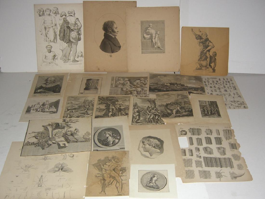 20 18th/19th century engravings/etchings