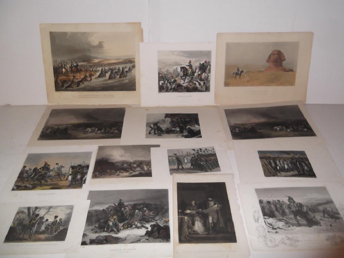 14 colored engravings/etchings