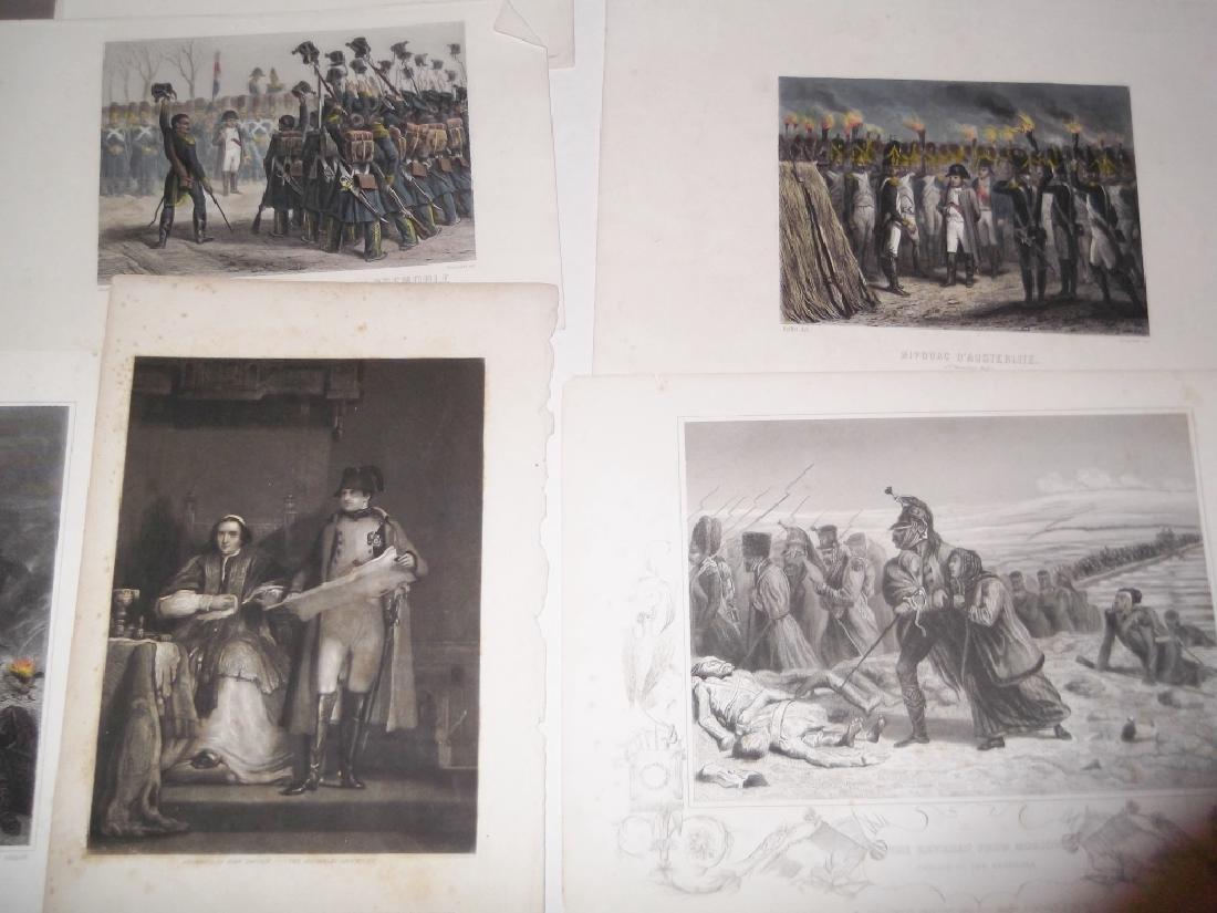 14 colored engravings/etchings - 2