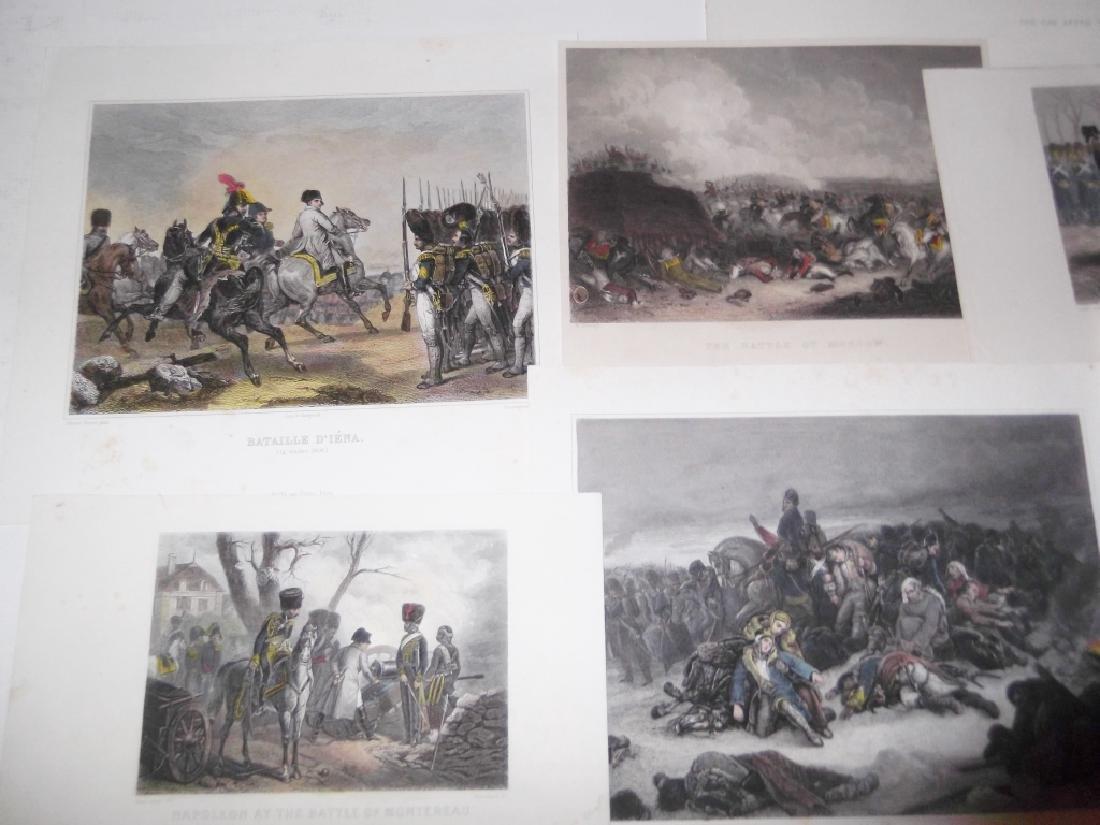 14 colored engravings/etchings - 8