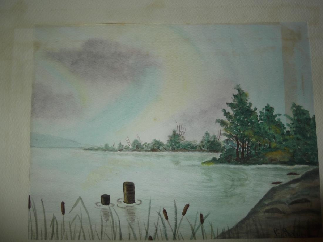 4 1960's/1970's  watercolor - 6