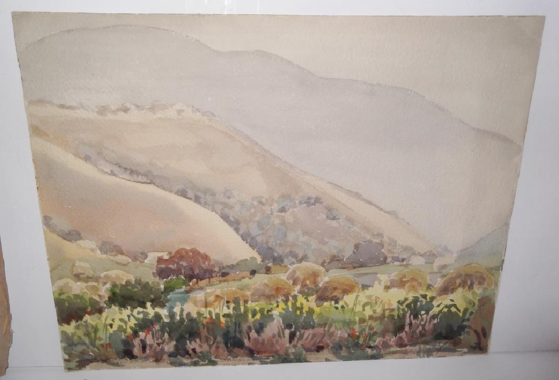 7 landscape watercolors/mixed media paintings - 10