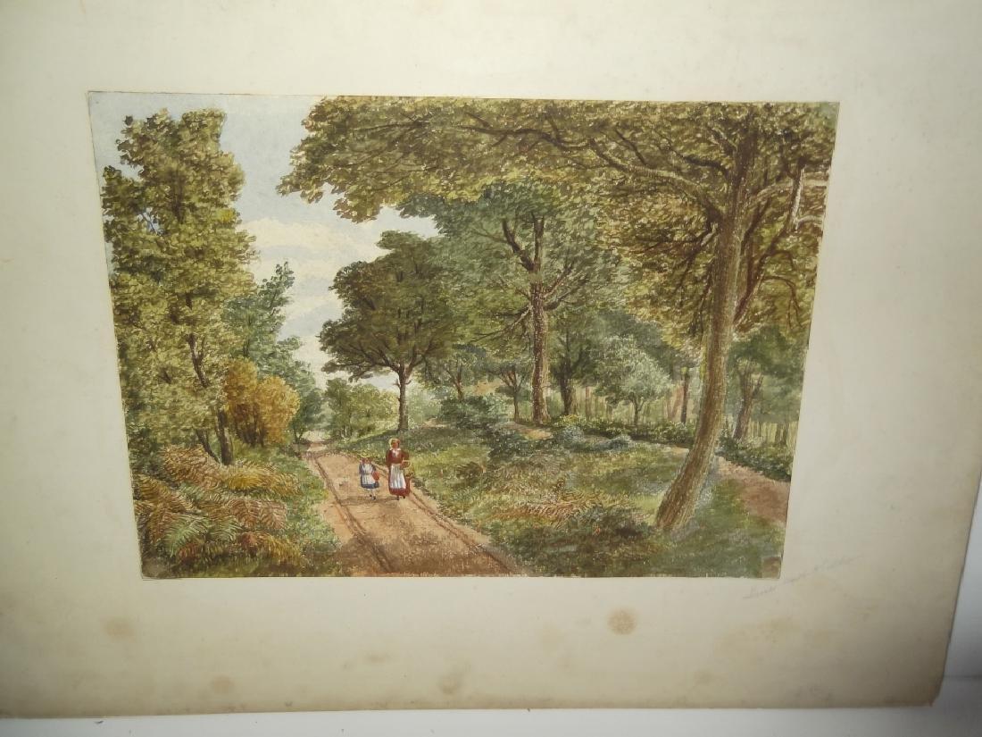7 landscape watercolors/mixed media paintings - 2