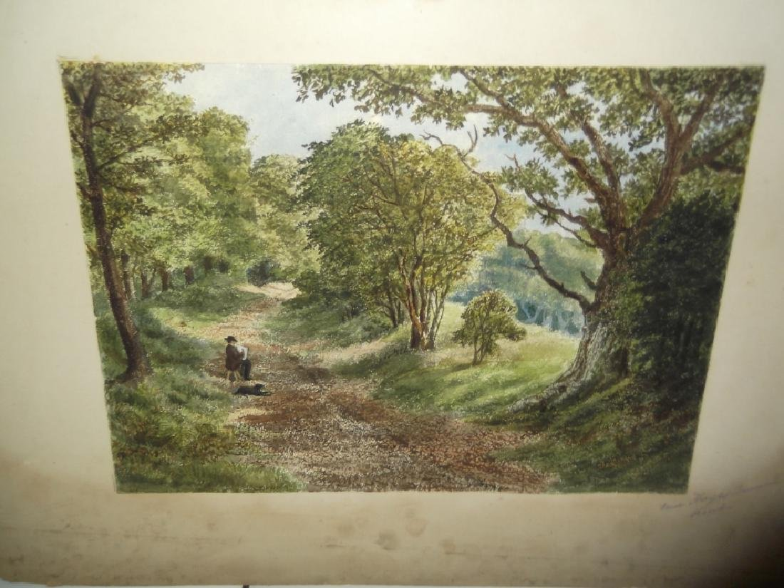 7 landscape watercolors/mixed media paintings - 4