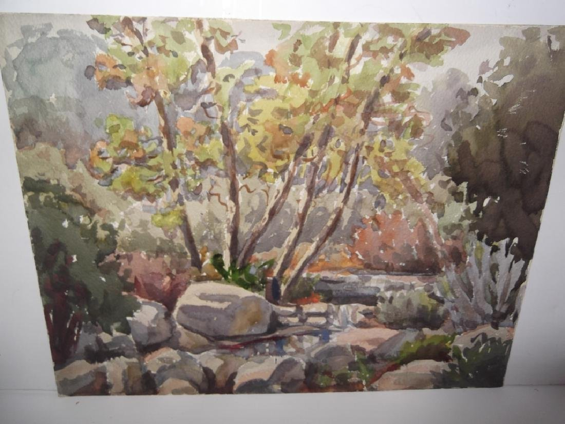7 landscape watercolors/mixed media paintings - 6