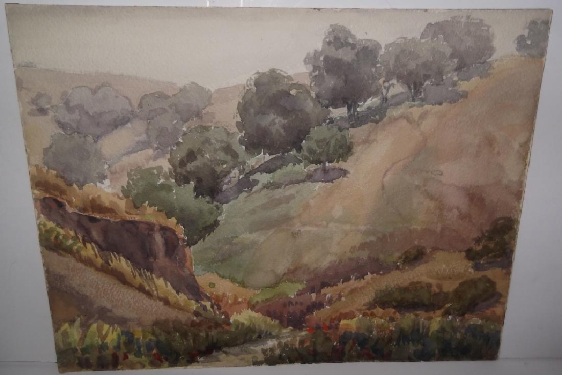7 landscape watercolors/mixed media paintings - 7