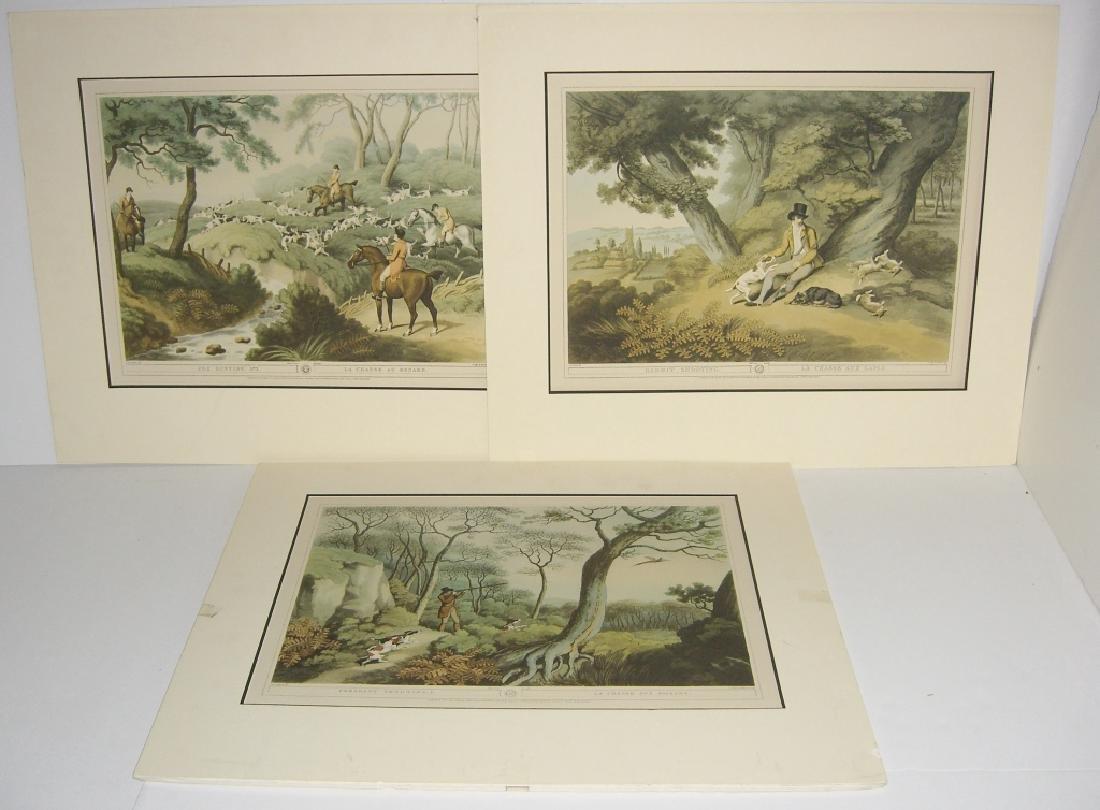 3 British field sports hunting prints