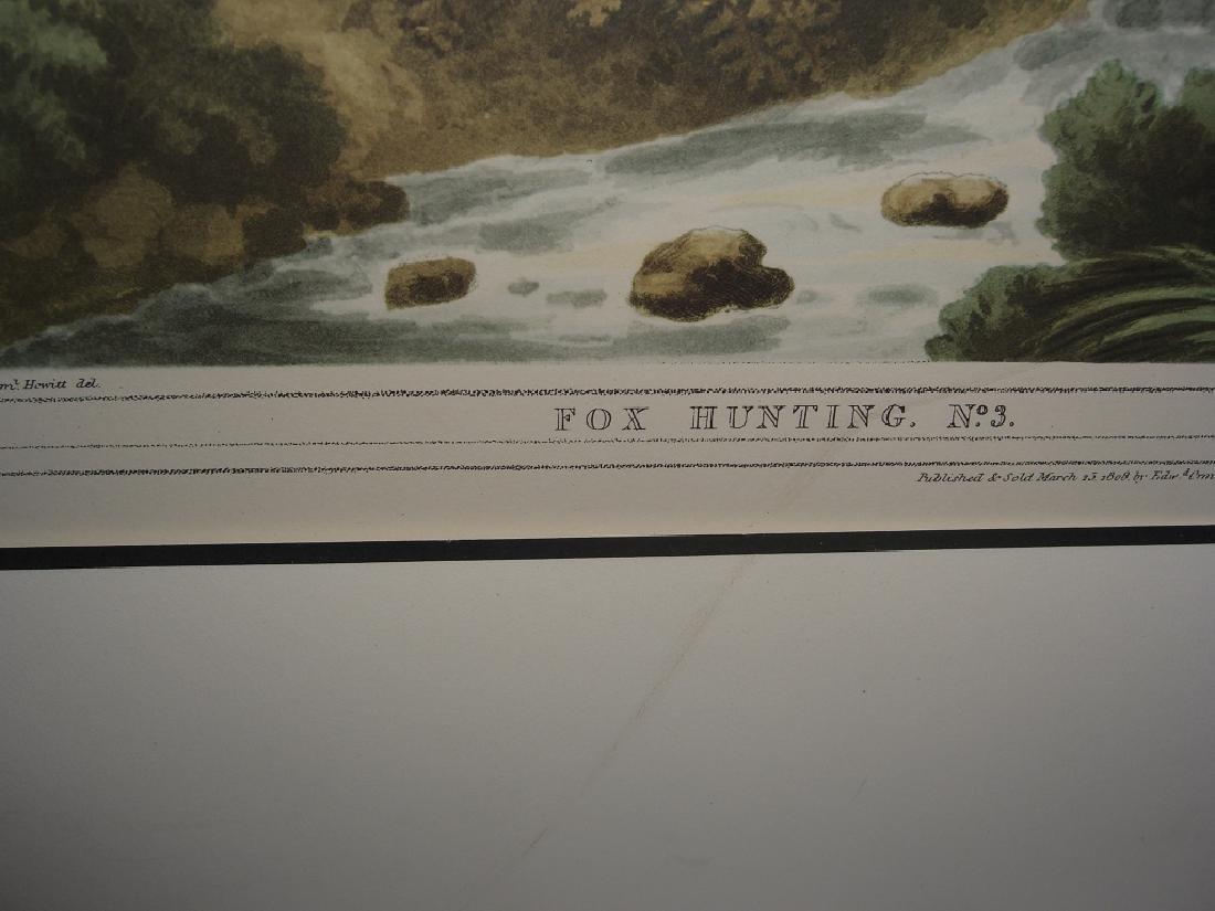 3 British field sports hunting prints - 4