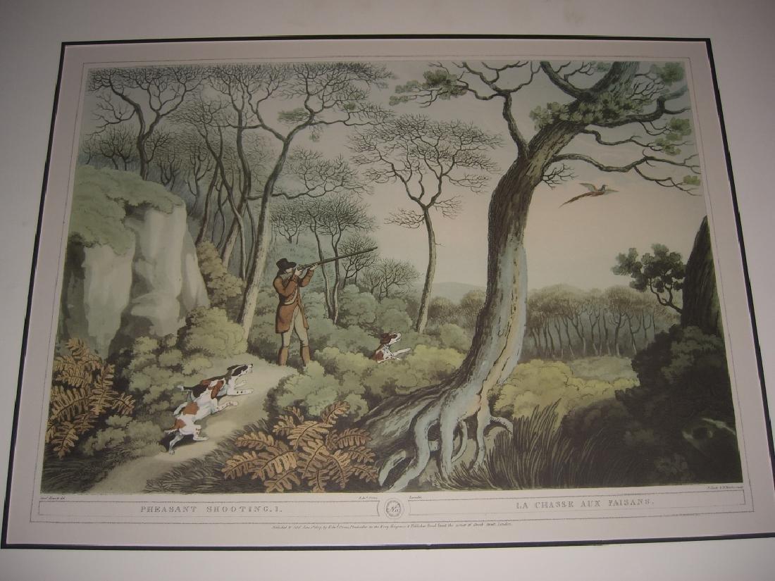 3 British field sports hunting prints - 7