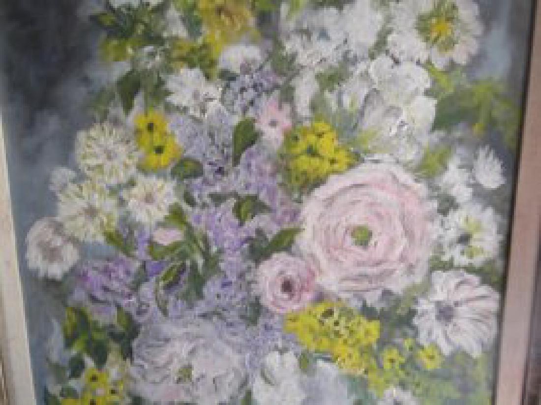 Floral still life oil on board - 2