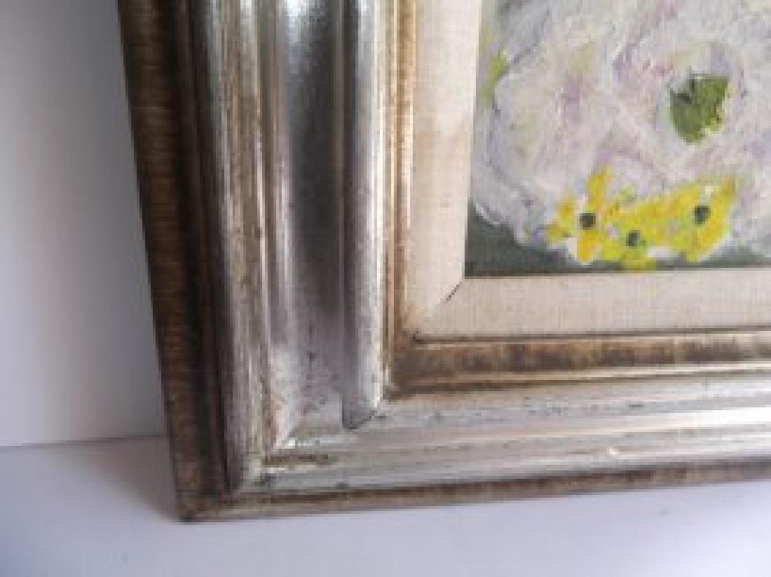 Floral still life oil on board - 3