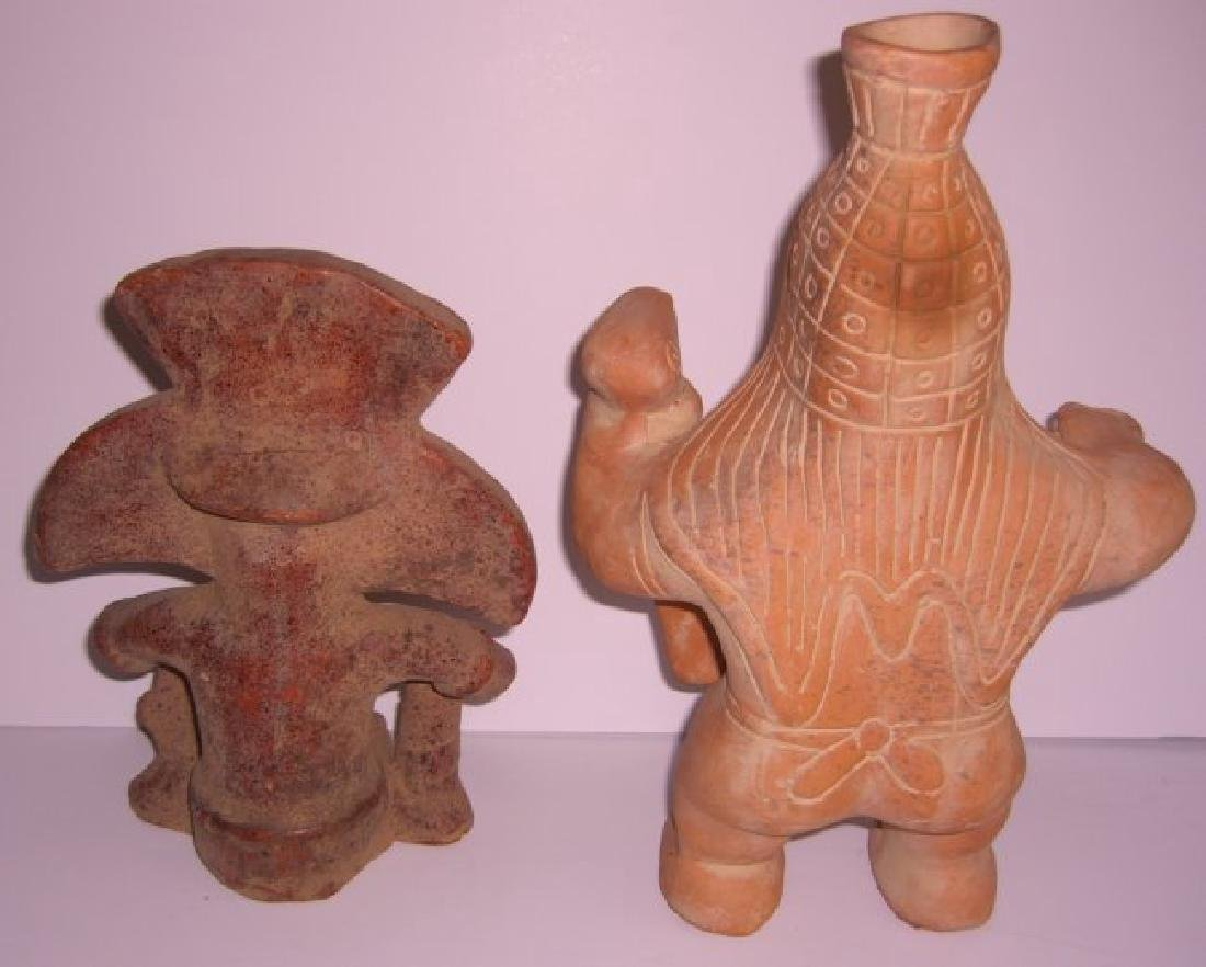 2 terra cotta Columbian pottery figures - 2