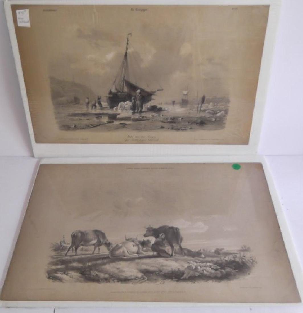 10 19th c. hand colored engravings - 5