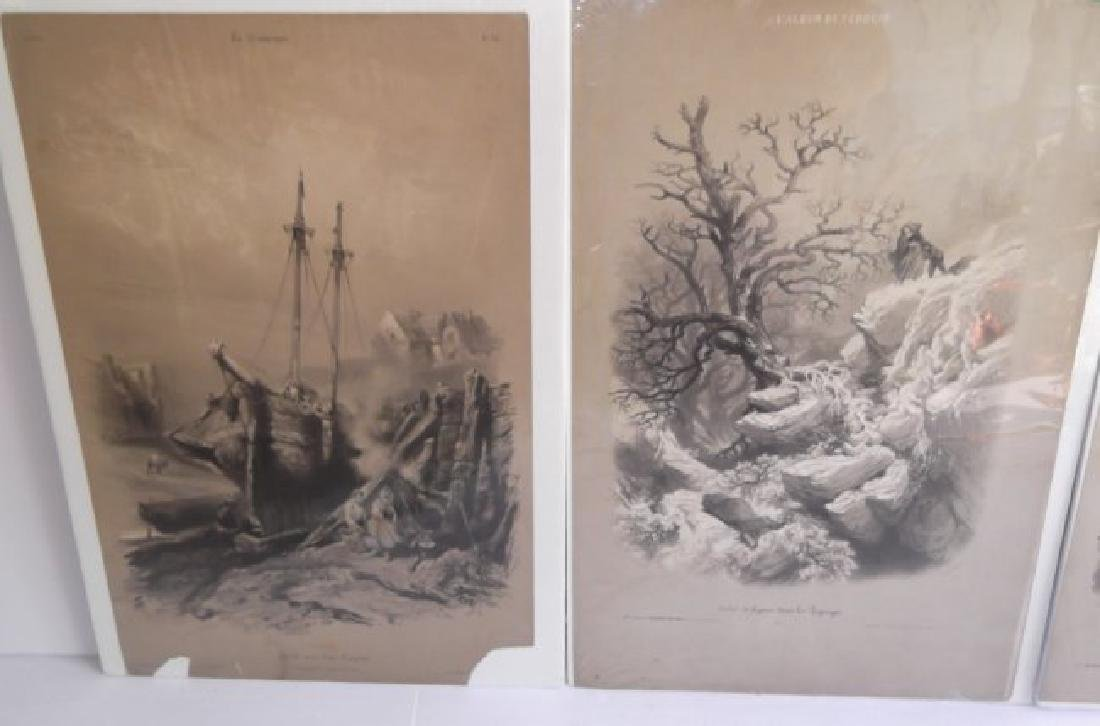 10 19th c. hand colored engravings - 9