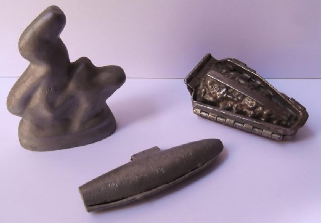 3 vintage chocolate molds