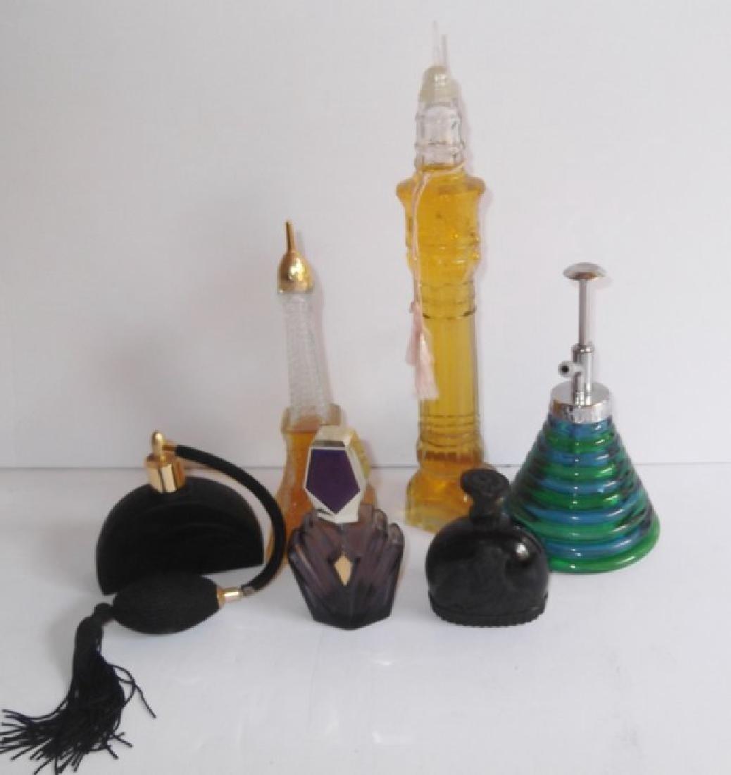 6 perfume bottles
