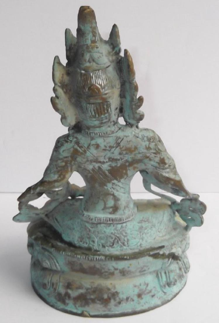 Bronze Indian deity statue - 2