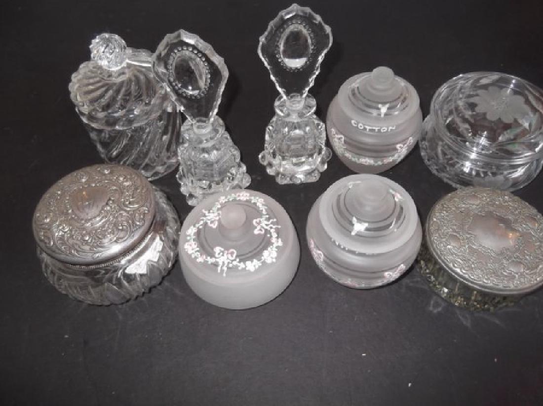 dresser boxes & perfume bottles