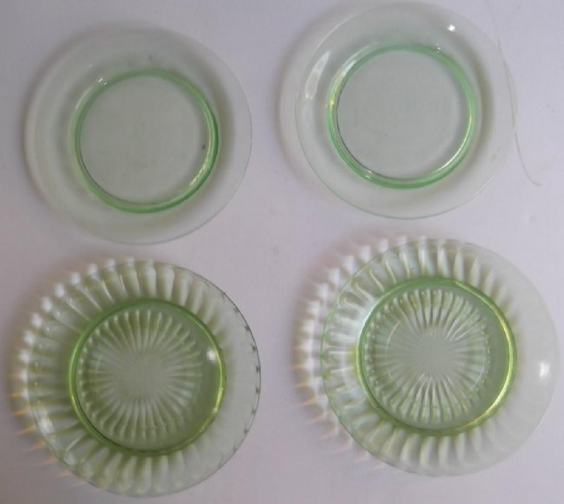 green depression vaseline glass - 6