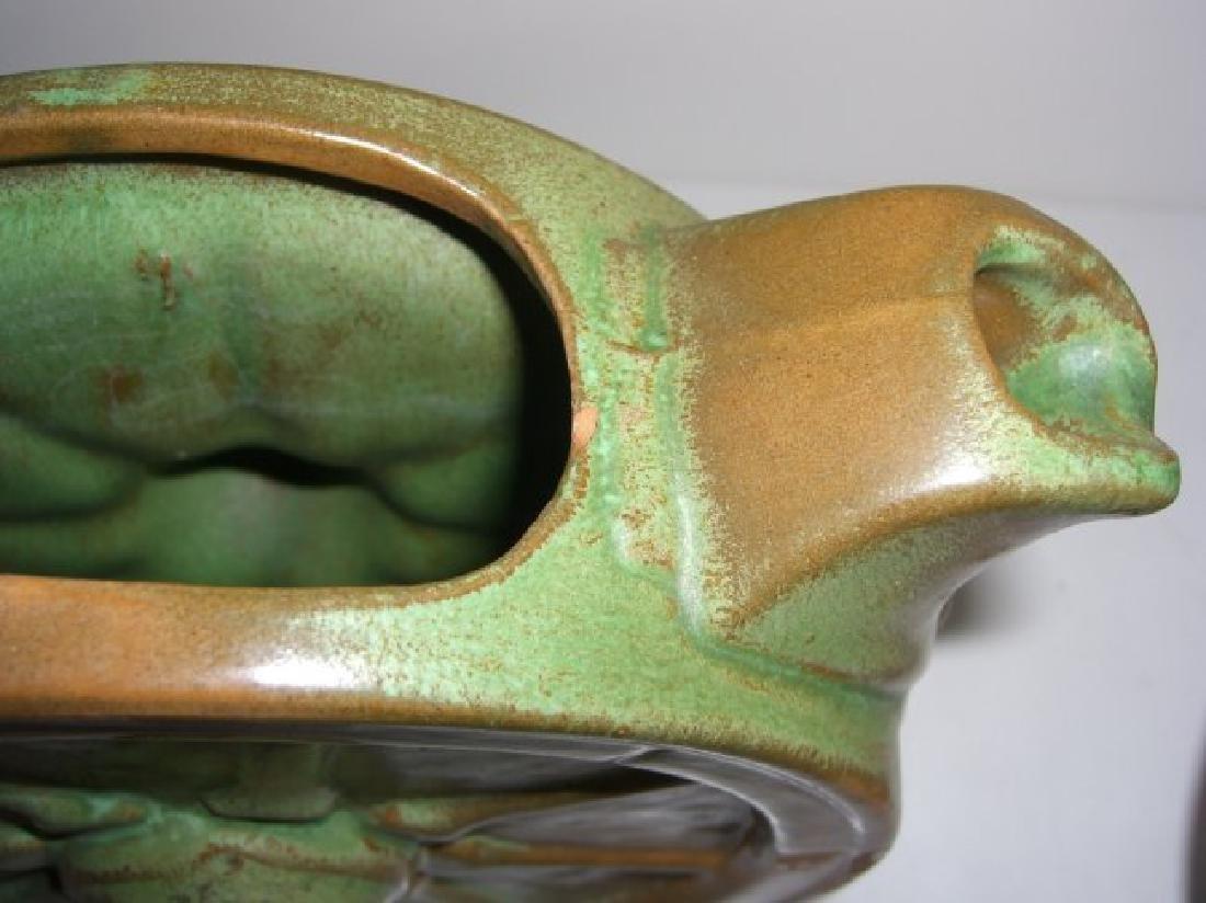 5 piece Mid-century modern vases; teapot - 2