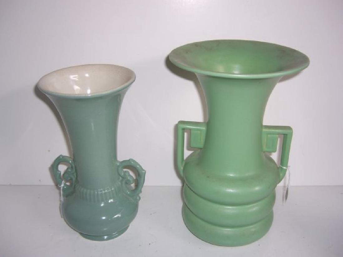 5 piece Mid-century modern vases; teapot - 5