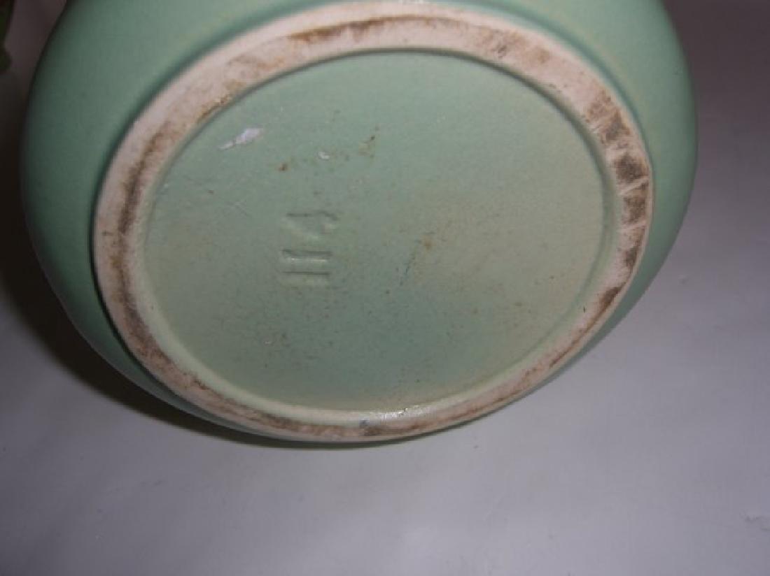 5 piece Mid-century modern vases; teapot - 7