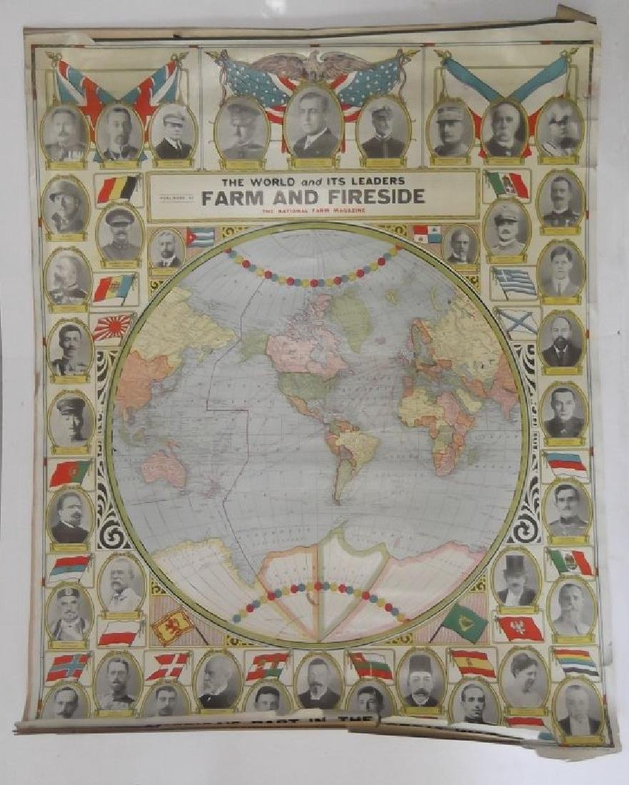 1906 wall hanging maps