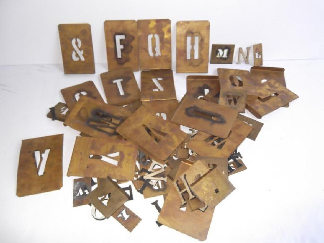 Collection of various letters, numbers