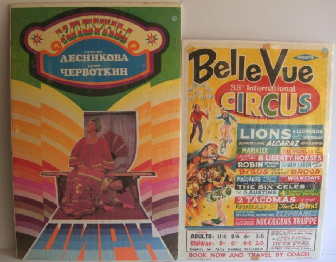 2 circus posters